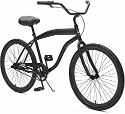 "Critical Cycles Herren Chatham-3 Men's Beach Cruiser 26"" Three-Speed Bicycle, Matte Black, One Size"
