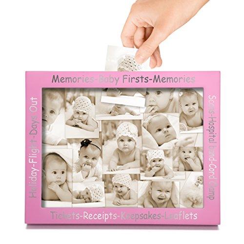 CKB Ltd Rosa Pink Display Frame For Baby First Memories - Gedächtnis und Andenken Picture Bilderrahmen Vitrine Anzeigebox - Baby...