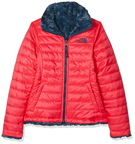THE NORTH FACE Mädchen Reversible Mossbud Swirl Jacke, Atomic Pink, L The North Face Reversible Jacket