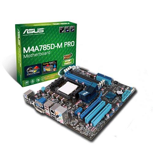 ASUS M4A785D-M PRO Mainboard Sockel AMD AM3 785G+RS880 DDR2 Speicher Micro ATX