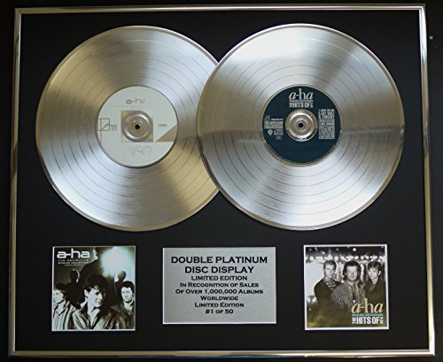 A-HA/DOPPO CD PLATINO DISC RECORD/Edizione LTD/Certificato di autenticità/THE DEFINITIVE SINGLES COLLECTION 1984/2004 & THE HITS