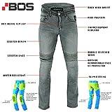 BOSmoto Motorradhose, Jeans Kevlar, Aramid Mit Protektoren Herren (W36)