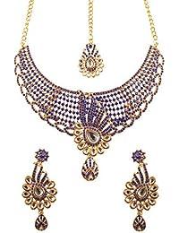 Touchstone Indian Bollywood Minakari Mesh Kundan Work White Diamante Bridal Jewelry Necklace For Women