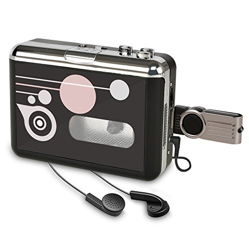 Kassettenspieler Standalone Portable Digital USB Audio Musik/Kassette zu MP3 Konverter mit OTG Speichern in USB Flash Drive/Kein PC erforderlich (Musik Audio Kassetten)