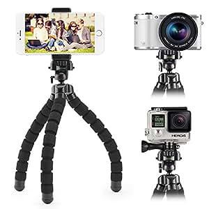 iKross Trépied poulpe Noir flexible réglable 3dans1 pour GoPro Hero, smartphone et caméras