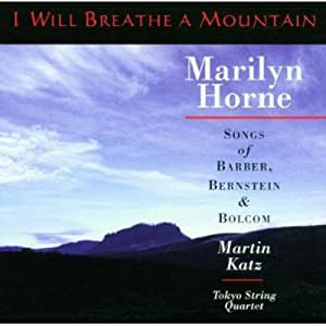 I Will Breathe a Mountain - Songs Of Barber, Bernstein And Bolcom