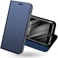 Funda Huawei Enjoy 7S,OJBKase Premium piel sintética Billetera Carcasa Protectora Cartera y Funda Cubierta interior TPU [Soporte plegable] Protección De Cuerpo Completo Case para Huawei Enjoy 7S(Azul)