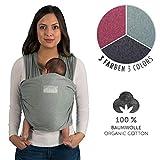 Laleni Tragetuch Baby, Babytragetuch - Babytrage für Neugeborene, 100% weiche Bio-Baumwolle, elastisch bis 15kg