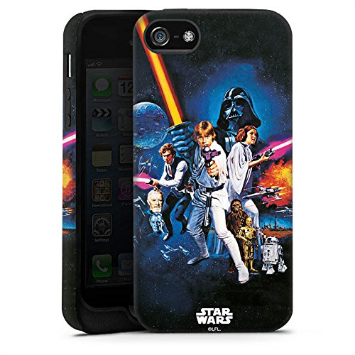 Apple iPhone 7 Hülle Premium Case Cover Star Wars Merchandise Fanartikel Episode IV Tough Case matt