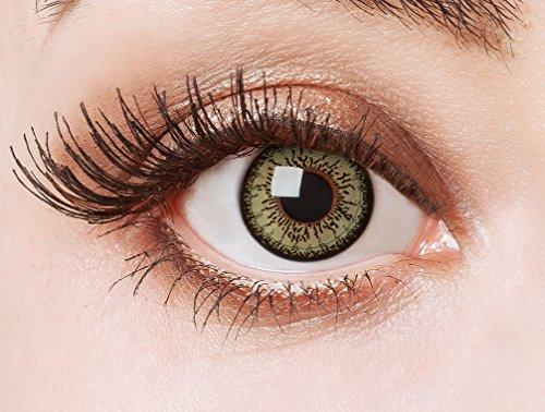 aricona Kontaktlinsen Farblinsen | grüne Kontaktlinsen ohne Stärke | farbige 12 Monatslinsen | Manga Jahreslinsen natürlich farbig | Circle Lenses in grün