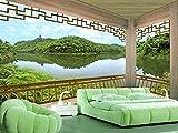 Tapete Pavillon Landschaft 3D Chinese Tv Sofa Hintergrund Wand Wohnkultur Benutzerdefinierte Jede Größe