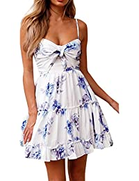 Kleid damen Kolylong® Frauen Elegant Trägerloses Spitze Ärmellose Kleid  Knielang Spitzenkleid Weißes Rückenfrei Kleider Schulterfrei 16754c705a