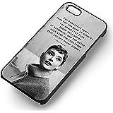 Audrey Hepburn Quotes for Funda iphone 7 Case (Black Hardplastic Case) D7R3NQ