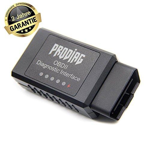 PRODIAG OBD2 Bluetooth ELM327 Bluetooth Auto-Scanner OBD 2-Scan-Werkzeug Foseal Adapter Check Engine-Diagnose-Tool für Android mit einem Handy OBDII Ständer