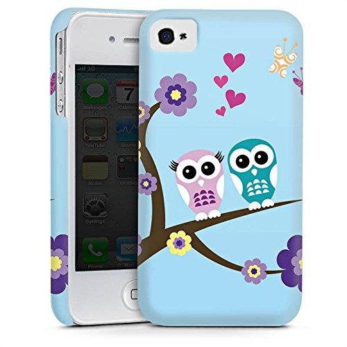 Apple iPhone 5s Housse Étui Protection Coque Hibou Hibou Fleurs Cas Premium mat