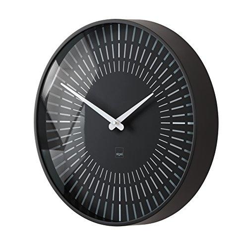 Sigel WU111 artetempus, horloge murale design, modèle lox, diamètre 36 cm, noire