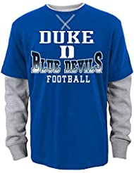 """Duke Blue Devils Jeunesse Youth NCAA """"Arched Fade"""" L/S Faux Layer Thermal Shirt"""