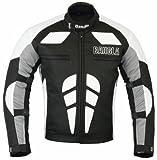 Bangla Herren Motorradjacke Sportjacke Textil B-31 schwarz weiss S