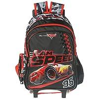 ديزني حقيبة مدرسية بعجلات للاولاد - 16 انش