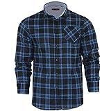 Brave Soul Herren Freizeit-Hemd, Kariert Small Gr. Small, Duffy Blue
