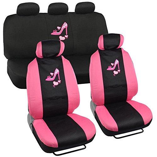 Womens Elf Schuhe (Lady High Heel Schuh w/Triple Pink Hearts Auto Zubehör Innen Auto Truck SUV Combo Kit)