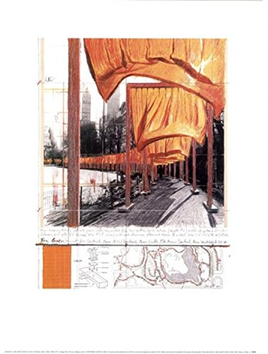 The Gates, Project for Central Park, New York City Poster Print by Christo (Javacheff) (12 x 16) (Christo Gates Javacheff)