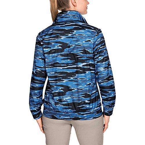 Jack Wolfskin Womens/Ladies Coastal Wave Lightweight Windshell Jacket Night Blue All Over