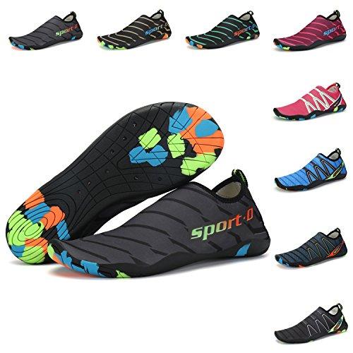 KOUDEN Zapatos de Agua Sandalias Mujer con Suela Antideslizante Hombre  Playa Escarpines para Yoga Buceo Surf eaee01c27d0