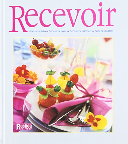 Recevoir : Dresser la table Décorer les plats Décorer les desserts Faire ses buffets