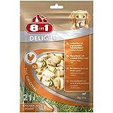 8in1 Delights Chicken Kauknochen Größe XS (gesunder Kausnack für sehr kleinere Hunde von 2 bis 12 kg, hochwertiges Hähnchenfleisch eingewickelt in Rinderhaut), 21 Stück (252 g Beutel)