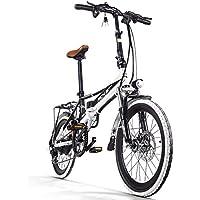 Richbit électrique City Bike RT700 Ebike pliable pour vélo 250 W * 48 V 8 Ah Batterie LG 7 vitesses 7 vitesses Lтutilisation chargeur de téléphone portable et support double Frein à disque mécanique 20 en Roue avec dos Raquette City en commun Vélo Shimano Dérailleur longue durée du nouveau Mode Peinture