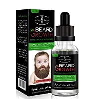 Caffeine Beard Growth Stimulating Oil for Facial Hair Grow | Fuel Healthy Growth | Fragrance Free Beard Oil