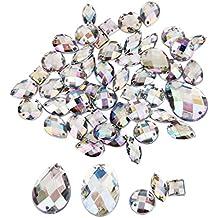 Cristal Botón De Costura Decoración Artesanía Bricolaje Estilos 50pcs Mixtos