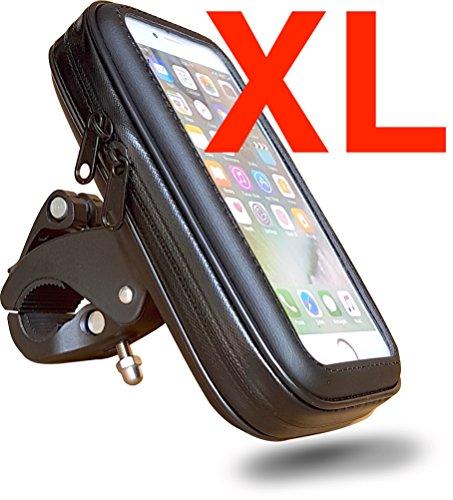 """FT-18XL Händyhalterung Lenkertasche Fahrrad Motorrad Ramen Tasche Smartphone Halterung mit wasserdichter/-fester Schutzhülle bis 6,3"""" Display, Micro USB Kabel, z.B für Smartphones, Handy, Navi, GPS, Apple iPhone X 8 Plus / 7Plus / 6S Plus, Samsung Galaxy S9 Plus / S8 Plus / S7 EDGE / Note 8 etc. Face ID"""