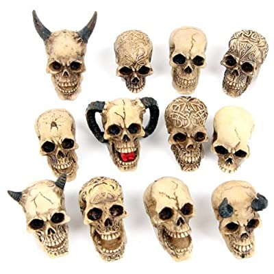 Small Gothic Skull Ornament (one Off)