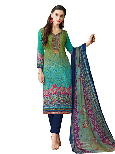 Indisch Salwar Kameez Frau Nicht abgesteppt kleid partywear Nicht Gewunden Nur Material Mirchi Fashion (Kameez Dupatta Salwar)