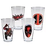 Marvel Deadpool Set of 4 Pinte De Bièrees