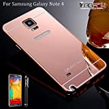 Note 4 Case, Galaxy Note 4 Case, TabPow [Electroplating Series] Luxury Slim Hard Back Case Cover Bumper [Mirror Case] For Samsung Galaxy Note 4 IV, Rose Gold