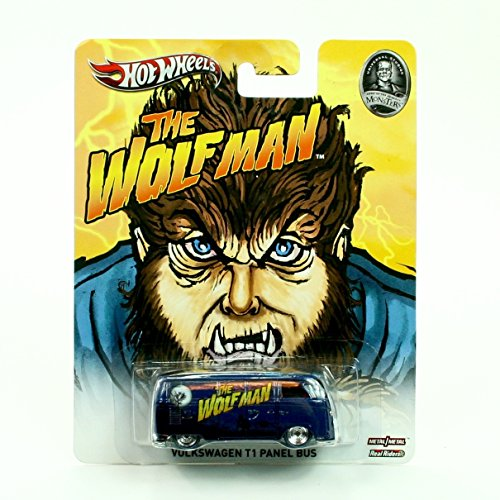 VOLKSWAGEN T1 PANEL BUS * THE WOLFMAN / UNIVERSAL STUDIOS MONSTERS * Hot Wheels 2013 Pop Culture Series 1:64 Scale Die-Cast Vehicle by Hot Wheels (Volkswagen T1 Panel-bus)