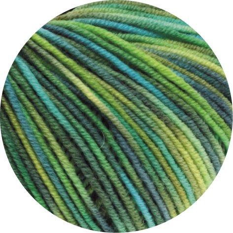 Lana Grossa Cool Wool Print 784 - Hellgrün/Apfelgrün/Dunkelgrün/Türkis/ -