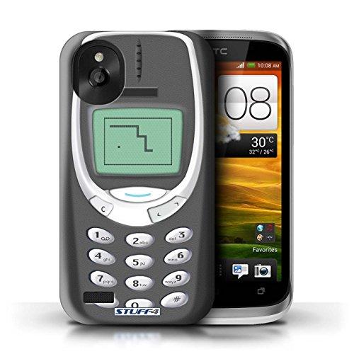 Kobalt® Imprimé Etui / Coque pour HTC Desire X / Nokia 3310 rose conception / Série Portables rétro Nokia 3310 gris