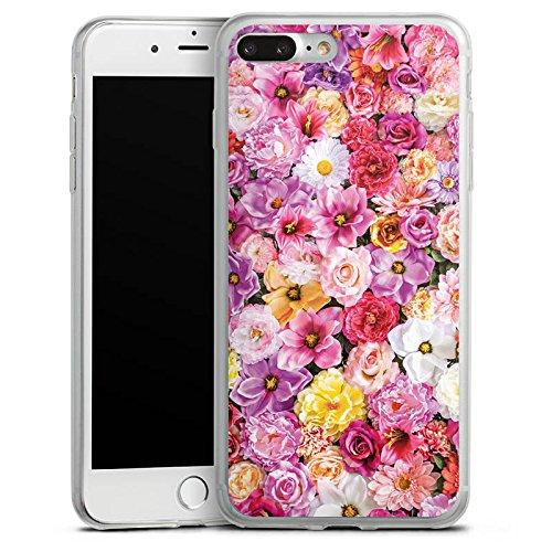 Apple iPhone X Slim Case Silikon Hülle Schutzhülle Blütenmeer Blüten Blumen Silikon Slim Case transparent