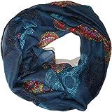 ManuMar Loop-Schal für Damen | feines Hals-Tuch mit Totenkopf-Motiv als perfektes Sommer-Accessoire | Schlauch-Schal - Das ideale Geschenk für Frauen