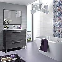 HABITMOBEL GOLDEN Mueble lavabo 1p abat.+1c + espejo + LAVABO CERAMICO