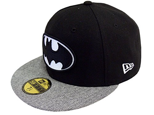 NEW ERA Baseball Cap 59FIFTY Batman herringbone Gr. 7 3/8 (New Herringbone)