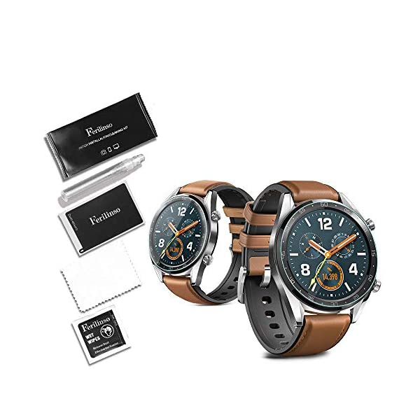 Ferilinso Protector de Pantalla para Huawei Watch GT, [4 Pack] [Vidrio NO Templado] Protector de Pantalla de Repuesto de Alta sensibilidad Full Coverage 3D Pet Película 6