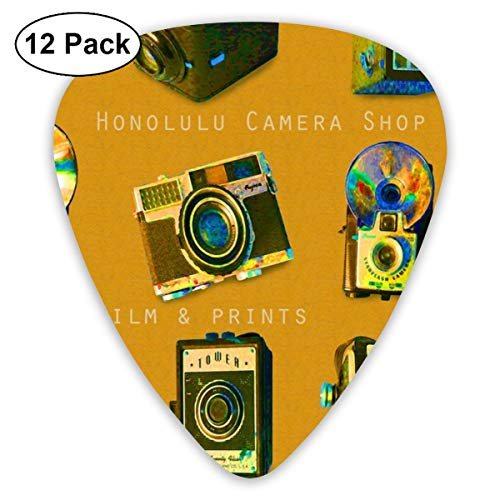 Honolulu Camera Shop_3240 Classic Celluloid Picks, 12-Pack, For Electric Guitar, Acoustic Guitar, Mandolin, And Bass
