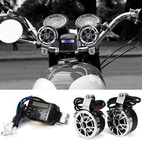 YSHtanj Motorrad Elektronik Reparaturwerkzeug 12 V Wasserdicht Motorrad Fahrrad Bluetooth MP3 Musik Player FM Radio Uhr Audio -