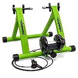 Relaxdays Rollentrainer Inklusive Schaltung 6 Gänge für 26-28 zoll bis 120 kg Belastbar Indoor Fahrradfahren Stahl, Grün, 10018322_53 - 2