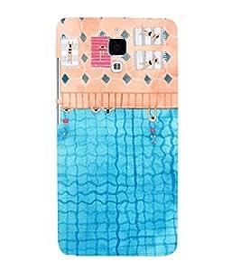 FUSON People Floating River Pool 3D Hard Polycarbonate Designer Back Case Cover for Xiaomi Redmi Mi 4 :: Redmi Mi 4